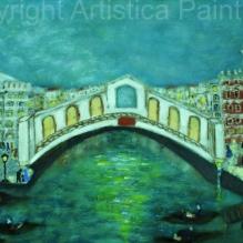 C´era una volta una sera a Venezia olio su tela 40x80 certificate: 21