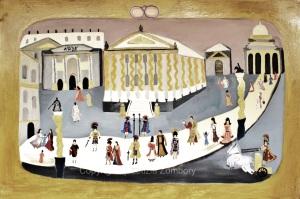 Un giorno di Roma 2000 anni fa oilo su tela 100x150