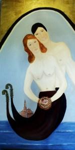 Amore Veneziano olio su tela 120x60 cm