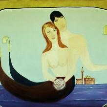Amore veneziano II olio su lino 100x150