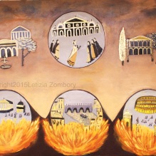 Nero set Rome on fire 100x150 cm