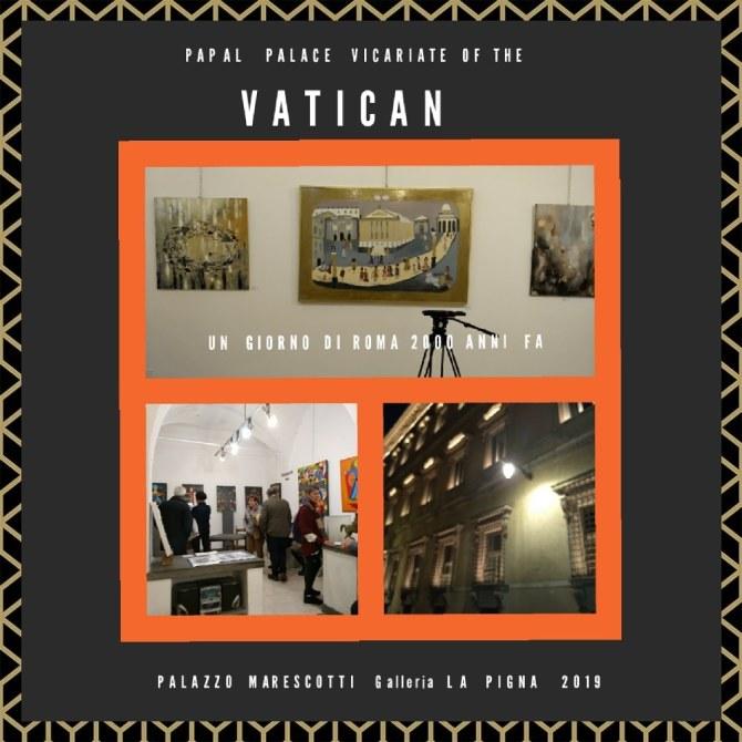 ROMA -VATICAN Mostra Internazionale d'Arte Contemporanea Palazzo Marescotti 2019
